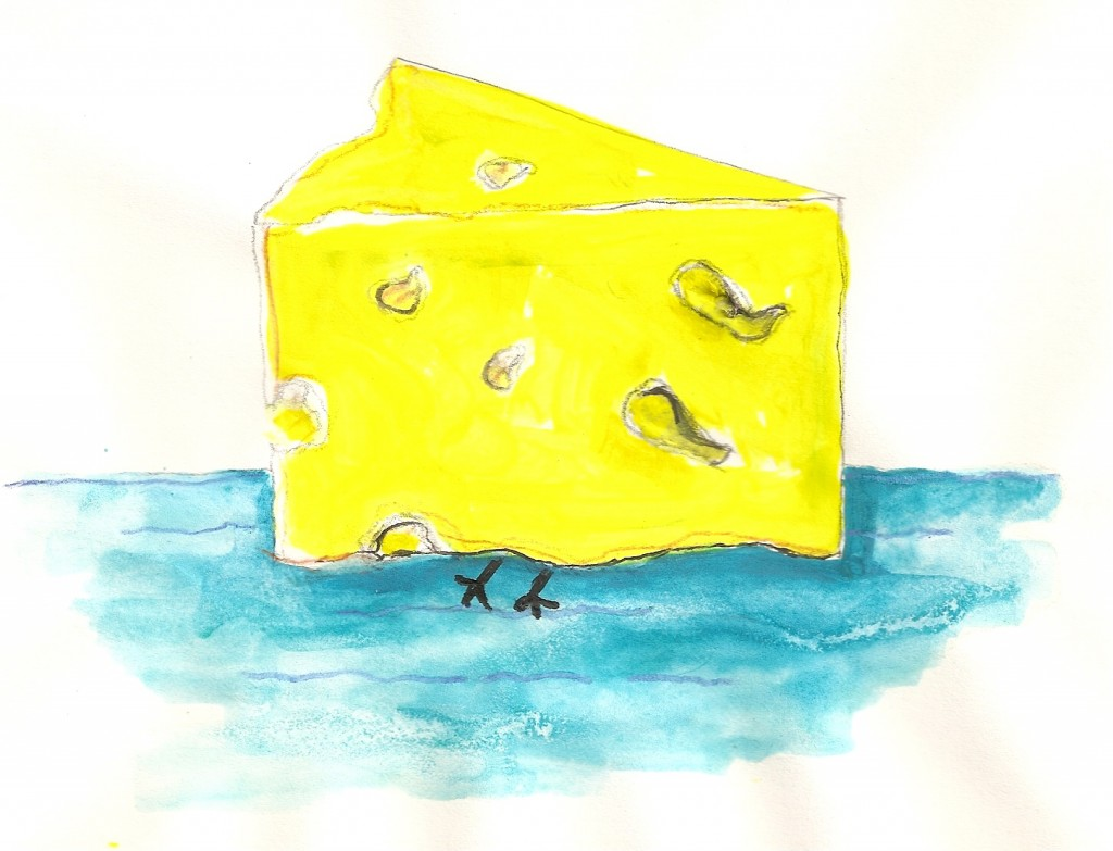 """I call this one """"Determined Cheese Walks on Water"""""""