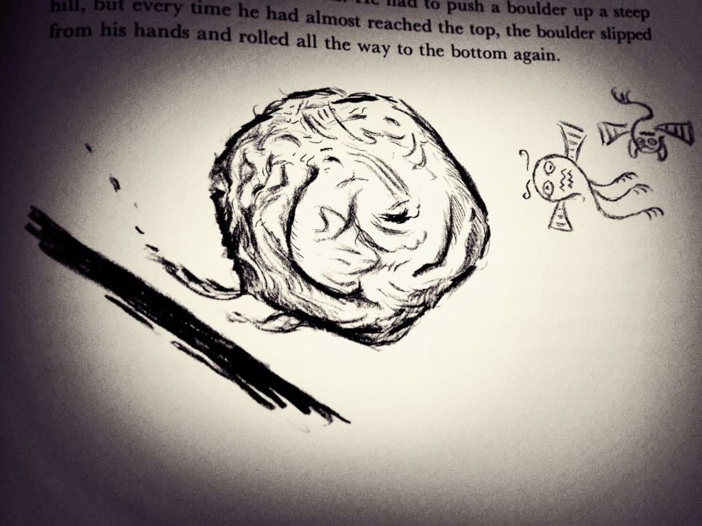 Sisyphus loses his marble